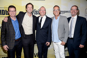 (L-R) IMDb COO Rob Grady, Sundance Film Festival Director of Programming Trevor Groth, IMDb founder and CEO Col Needham, Sundance Film Festival Director John Cooper, and IMDb Senior Film Editor Keith Simanton attend IMDb's 25th Anniversary Party co-hosted by Amazon Studios presented by VISINE at Sunset Tower Hotel on October 15, 2015 in West Hollywood, California.