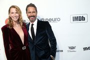 Eric McCormack and Janet Holden walk the red carpet at the Elton John AIDS Foundation Academy Awards Viewing Party on February 09, 2020 in Los Angeles, California.