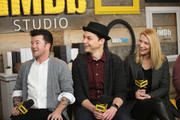 (L-R) Director Silas Howard, actors Jim Parsons, Claire Danes from 'A Kid Like Jake' attend The IMDb Studio and The IMDb Show on Location at The Sundance Film Festival on January 21, 2018 in Park City, Utah.