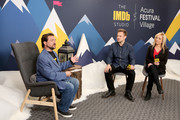 Joshua Rofe and Lorena Bobbitt of 'Lorena' and Kevin Smith (L) attend The IMDb Studio at Acura Festival Village on location at The 2019 Sundance Film Festival - Day 4 on January 28, 2019 in Park City, Utah.