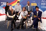Taylour Paige, Riley Keough, Nicholas Braun, A'Ziah King, Janicza Bravo and Colman Domingo of 'Zola' attend the IMDb Studio at Acura Festival Village on location at the 2020 Sundance Film Festival – Day 2 on January 25, 2020 in Park City, Utah.