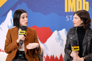 St. Vincent and Carrie Brownstein of 'The Nowhere Inn' attend the IMDb Studio at Acura Festival Village on location at the 2020 Sundance Film Festival – Day 3 on January 26, 2020 in Park City, Utah.