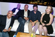 Tom Russo, Stan Rosenfeld, Kelsey Grammer, Frank Lesser and Lily Stuart Streiff attend the #IMDboat Party presented by Soylent and Fire TV at San Diego Comic-Con 2019 at the IMDb Yacht on July 19, 2019 in San Diego, California.