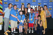 (L-R) Tom Cavanagh, Danielle Panabaker, Danielle Nicolet, Grant Gustin, Carlos Valdes, Jessica Parker Kennedy, Hartley Sawyer and Make-A-Wish Foundation recipients attend the #IMDboat At San Diego Comic-Con 2018: Day Three at The IMDb Yacht on July 21, 2018 in San Diego, California.
