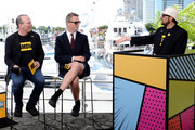 IMDb Founder and CEO Col Needham, Nicolas Winding Refn and Kevin Smith speak onstage at the #IMDboat at San Diego Comic-Con 2019: Day Three at the IMDb Yacht on July 20, 2019 in San Diego, California.