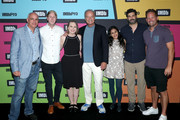 Tom Russo, Jordan McMahon, Lily Stuart Streiff, Kelsey Grammer, Aparna Nancherla, Frank Lesser and Corey Moss attend the #IMDboat at San Diego Comic-Con 2019: Day Three at the IMDb Yacht on July 20, 2019 in San Diego, California.