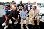 Percy Daggs III, Jason Dohring, Ryan Hansen, Enrico Colantoni, Rob Thomas, Kirby Howell-Baptiste, Kristen Bell and Francis Capra speak onstage at the #IMDboat at San Diego Comic-Con 2019: Day Two at the IMDb Yacht on July 19, 2019 in San Diego, California.