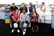 Adrian Martinez, Cole Sibus, Camryn Manheim, Michael Ealy, Jake Johnson, Tantoo Cardinal and Cobie Smulders speak onstage at the #IMDboat at San Diego Comic-Con 2019: Day Two at the IMDb Yacht on July 19, 2019 in San Diego, California.
