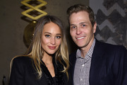 Hannah Davis (L) and Patrick Whitesell attend IMG Models Celebrates The Sports Illustrated, Swimsuit issue at Vandal on February 15, 2016 in New York City.