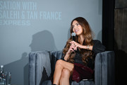 Negin Mirsalehi speaks onstage during The Talks: In Conversation with Tan France and Negin Mirsalehi Presented by Express at Spring Studios on September 05, 2019 in New York City.
