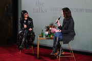 Fashion Entrepreneur & Wellness Guru, Norma Kamali and Cherry Bombe Magazine founder, Kerry Diamond speak at NYFW: The Talks, A Stiff Drink with Cherry Bombe, presented by The Glenlivet during NYFW: The Shows at Spring Studios on February 08, 2020 in New York City.