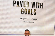 Eric West poses at Visa's Grit, Grace, Greatness retail shop during NYFW: The Shows at Spring Studios on February 08, 2020 in New York City.