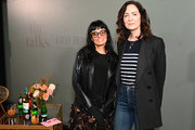 Fashion Entrepreneur & Wellness Guru, Norma Kamali and Cherry Bombe Magazine founder, Kerry Diamond pose at NYFW: The Talks, A Stiff Drink with Cherry Bombe, presented by The Glenlivet during New York Fashion Week: The Shows at Spring Studios on February 08, 2020 in New York City.