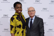 "Adepero Oduye and IWC CEO Georges Kern attend the ""For the Love of Cinema"" dinner hosted by IWC Schaffhausen and Tribeca Film Festival at Urban Zen on April 17, 2014 in New York City."