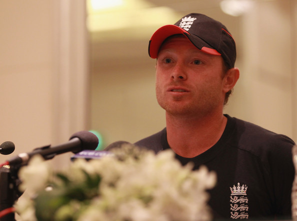 ian bell images. Ian Bell of England talks to