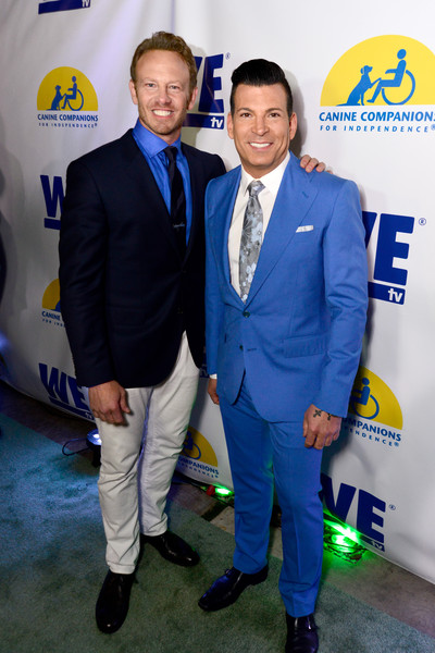 WE tv and Ian Ziering Raise Awareness For Canine Companions For Independence [suit,event,premiere,carpet,white-collar worker,ian ziering,david tutera,ian ziering raise awareness for canine companions for independence,awareness,boulevard 3,california,los angeles,we tv,l,event]