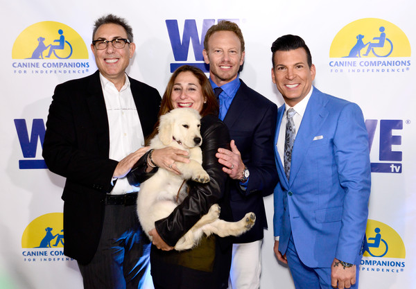 WE tv and Ian Ziering Raise Awareness For Canine Companions For Independence [event,canidae,ian ziering,marc juris,david tutera,president,lauren gellert,ian ziering raise awareness for canine companions for independence,programming,l-r,we tv,event]