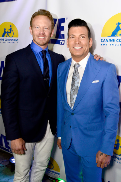 WE tv and Ian Ziering Raise Awareness For Canine Companions For Independence [suit,event,premiere,electric blue,white-collar worker,formal wear,tie,ian ziering,david tutera,ian ziering raise awareness for canine companions for independence,awareness,boulevard 3,california,los angeles,we tv,l,event]