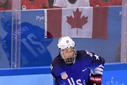 Hilary Knight #21 of the United States controls the puck against Canada in the second period during the Women's Gold Medal Game on day thirteen of the PyeongChang 2018 Winter Olympic Games at Gangneung Hockey Centre on February 22, 2018 in Gangneung, South Korea.
