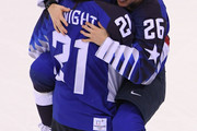 Hilary Knight #21 and Kendall Coyne #26 of the United States celebrate defeating Canada 3-2 in the overtime penalty-shot shootout to win the Women's Gold Medal Game on day thirteen of the PyeongChang 2018 Winter Olympic Games at Gangneung Hockey Centre on February 22, 2018 in Gangneung, South Korea.