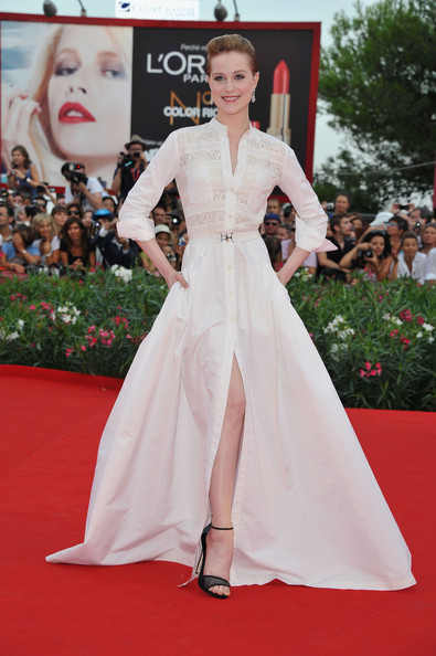 "Actress Evan Rachel Wood attends ""The Ides Of March"" premiere during the 68th Venice Film Festival at the Palazzo del Cinema on August 31, 2011 in Venice, Italy."