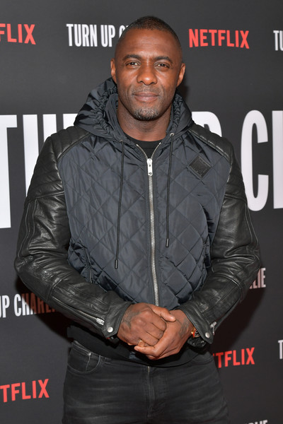Netflix's 'Turn Up Charlie' For Your Consideration Event - Arrivals [turn up charlie,jacket,facial hair,premiere,leather,outerwear,muscle,textile,event,beard,leather jacket,arrivals,idris elba,for your consideration,west hollywood,california,pacific design center,netflix,event]