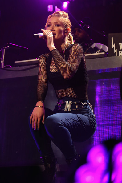 KISS 108's Jingle Ball 2014 - Show [performance,entertainment,music artist,performing arts,singing,music,concert,stage,purple,musician,iggy azalea,boston,massachusetts,td garden,kiss 108,market basket supermarkets,jingle ball 2014 - show]