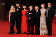 "(L-R) Actress Micaela Ramazzotti, Cesare Cremonini, Rita Carlini, director Pupi Avati, guest, Manuela Morabito and Andrea Roncato attend the ""Il Cuore Grande Delle Ragazze"" premiere during the 6th International Rome Film Festival on November 1, 2011 in Rome, Italy."