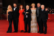 "(L-R) Actress Micaela Ramazzotti, Cesare Cremonini, Rita Carlini, director Pupi Avati, Manuela Morabito, Andrea Roncato and guest attend the ""Il Cuore Grande Delle Ragazze"" premiere during the 6th International Rome Film Festival on November 1, 2011 in Rome, Italy."