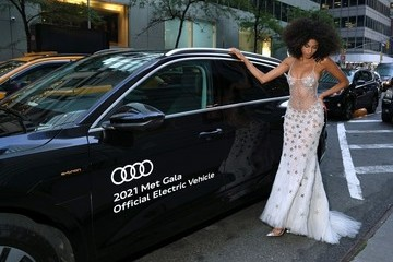 Imaan Hammam Audi Celebrates the 2021 Met Gala as the Official Electric Vehicle Partner
