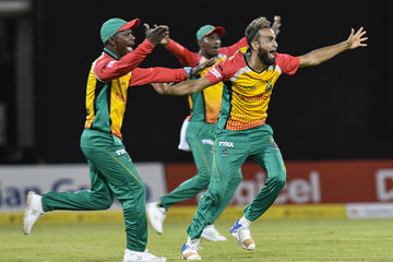 Imran Tahir Guyana Amazon Warriors vs. Jamaica Tallawahs - 2018 Hero Caribbean Premier League (CPL) Tournament