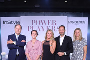 (L-R) Charles Villoz, Laurel Pantin, Mikaela Shiffrin, Pascal Savoy, and Agnes Chapski attend the InStyle Talks: Power Players presented by Longines & launch of Longines Conquest Classic Collection on June 05, 2019 in New York City.