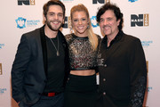 Thomas Rhett, Lauren Gregory, and Scott Borchetta attend the Inaugural Nash Icon ACC Awards post-show party honoring Reba as the first recipient of the NASH ICON Award at aVenue on December 15, 2014 in Nashville, Tennessee.