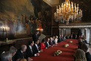 Chairmen of the Senate and the House and other ministers sign the Act of Abdication after Queen Beatrix of the Netherlands (8th-L), Prince Willem-Alexander of the Netherlands (9th-L) and wife Princess Maxima of the Netherlands (10th-L) during the abdication ceremony in the Moseszaal at the Royal Palace on April 30, 2013 in Amsterdam. Queen Beatrix of the Netherlands is abdicating the throne after a 33 year reign and hands the throne to her son Prince Willem-Alexander who will be sworn in later at the Nieuwe Kerk ahead of a joint session of parliament.
