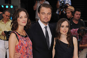 Marion Cotillard, Leonard Decaprio and Ellen Page attend the UK film premiere for 'Inception' at the Odeon Leicester Square on July 8, 2010 in London, England.