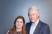 """Dalia Rabin and Bill Clinton attend a special screening of """"Incitement"""" at The Landmark at 57 West on February 01, 2020 in New York City."""