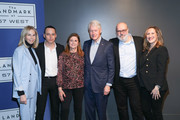 """(L-R) Sharon Cohen, Ron Leshem, Dalia Rabin, Bill Clinton, Yaron Zilberman and Tamar Sela attend a special screening of """"Incitement"""" at The Landmark at 57 West on February 01, 2020 in New York City."""