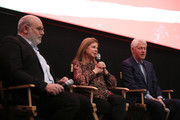 """(L-R) (L-R)  Yaron Zilberman, Dalia Rabin and Bill Clinton attend a special screening of """"Incitement"""" at The Landmark at 57 West on February 01, 2020 in New York City."""