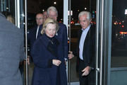 """Bill Clinton, Hillary Clinton and Sir Ronald Cohen arrive at the special screening of """"Incitement"""" at The Landmark at 57 West on February 01, 2020 in New York City."""