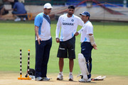 Sachin Tendulkar and Harbhajan Singh Photos Photo