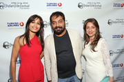"Actress Freida Pinto, director Anurag Kashyap and IFFLA Founder Christina Marouda attend the Indian Film Festival of Los Angeles (IFFLA) Opening Night Gala for ""Gangs Of Wasseypur"" at ArcLight Cinemas on April 9, 2013 in Hollywood, California."
