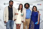 "(L-R) Anurag Kashyap, Christina Marouda, Vasa Bala and Guneet Monga attend the Indian Film Festival Of Los Angeles (IFFLA) Opening Night Gala For ""Gangs Of Wasseypur"" on April 9, 2013 in Hollywood, California."
