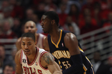 Roy Hibbert Indiana Pacers v Chicago Bulls - Game Two