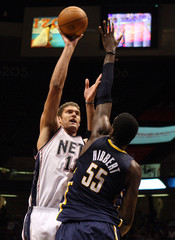 Roy Hibbert Indiana Pacers v New Jersey Nets