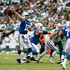 Quarterback Andrew Luck #12 of the Indianapolis Colts throws a touchdown pass against the New York Jets in the first quarter at MetLife Stadium on October 14, 2018 in East Rutherford, New Jersey. - 3 of 14