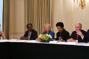 Indra Nooyi President Trump Holds Policy Forum With Business Leaders