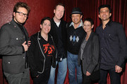 Bryan Master, Julie Berger, Michael Hayes, Paul Rodriguez, Susan Kaplan, and Tim Spangler attend Initiative Rocks benefit concert presented by Initiative and Myspace for Friends of the Family at El Rey Theatre on March 29, 2011 in Los Angeles, California.