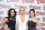 (L-R) Bhavna Limbachia, Katie McGlynn and Cassie Bradley attend the Inside Soap Awards at Sway on October 07, 2019 in London, England.