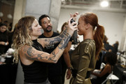 Danielle Moinet is seen backstage at InstaSleep Mint Melts Presents New York Fashion Week Nolcha Shows Spring/Summer 2020 on September 07, 2019 in New York City.