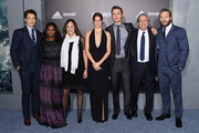 """(L-R) Actor Miles Teller, actress Octavia Spencer, producer Lucie Fisher, actress Shailene Woodley, actor Ansel Elgort, producer Douglas Wick, and actor Jai Courtney attend """"The Divergent Series: Insurgent"""" New York premiere at Ziegfeld Theater on March 16, 2015 in New York City."""